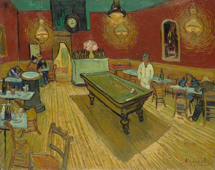 Le_café_de_nuit_(The_Night_Café)_Van Gogh Yale 1888